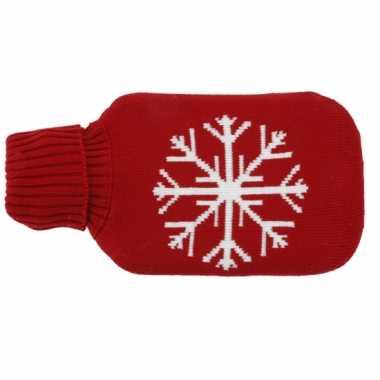 Rubberen rode kruik met sneeuwvlok