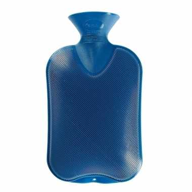 Rubberen warmkruik blauw 2 liter