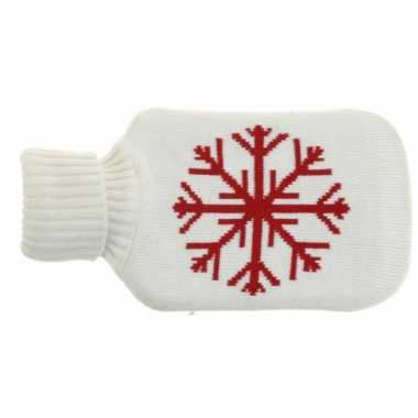 Rubberen witte kruik met sneeuwvlok